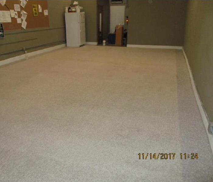 Carpet cleaning in office, Mt. Pleasant, IA. After