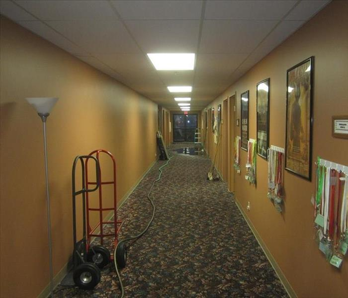 Hallway of a church, Danville, IA Before