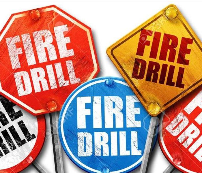 fire drill street signs